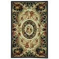 Safavieh Hand-made Chelsea Black Wool Rug (1'8 x 2'6)