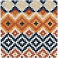 Safavieh Hand-made Chelsea Multi Wool Rug (8' Square)