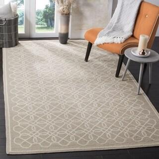 Safavieh Hand-made Chelsea Tan/ Ivory Wool Rug (7'9 x 9'9)