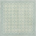 Safavieh Hand-made Chelsea Blue/ Ivory Wool Rug (6' Square)