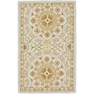 Safavieh Hand-made Chelsea Teal/ Green Wool Rug (1'8 x 2'6)