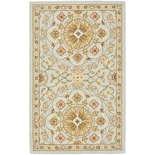 Safavieh Hand-made Chelsea Teal/ Green Wool Rug (2'9 x 4'9)