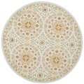 Safavieh Hand-made Chelsea Teal/ Green Wool Rug (4' Round)