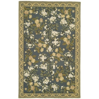 Safavieh Hand-made Chelsea Light Blue Wool Rug (8'9 x 11'9)