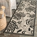 Safavieh Indoor/ Outdoor Courtyard Sand/ Black Rug (2'4 x 12')