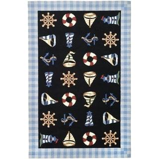Safavieh Hand-made Chelsea Black Wool Rug (8'9 x 11'9)