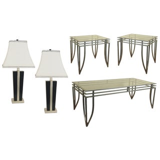 SOFAB Neo Grand Lamp, Coffee Table and End Table Set