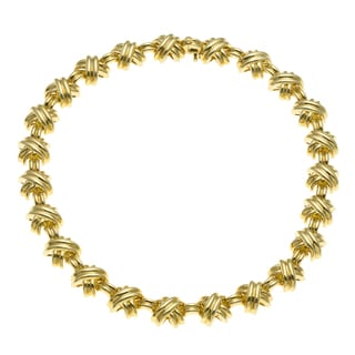 Tiffany & Co. 18k Yellow Gold Signature 'X' Link Estate Necklace