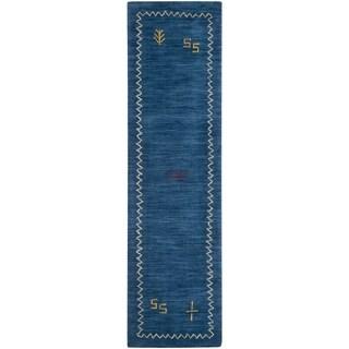 Safavieh Hand-knotted Himalaya Blue Wool Rug (2'3 x 10')