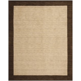 Safavieh Hand-knotted Himalaya Beige/ Dark Brown Wool Rug (8'9 x 12')