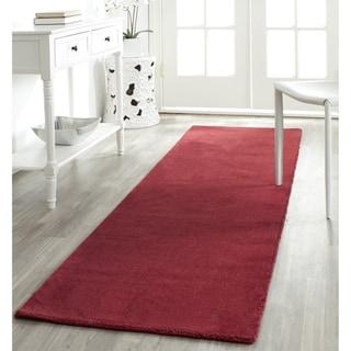 Safavieh Hand-knotted Himalaya Red Wool Rug (2'3 x 10')