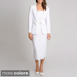 Giovanna Signature Women's Mock 3-piece Skirt Suit