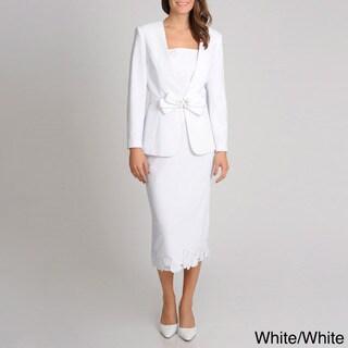 Giovanna Signature Women's Mock 3-piece Skirt Suit