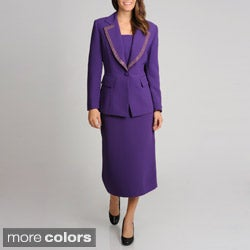 Giovanna Signature Women's Washable Mock 3-piece Skirt Suit