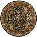 Safavieh Hand-made Heritage Black/ Red Wool Rug (10' Round)