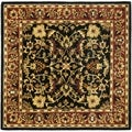 Safavieh Hand-made Heritage Black/ Red Wool Rug (10' Square)