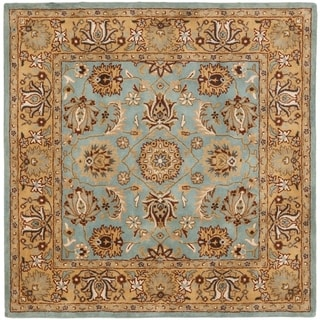 Safavieh Hand-made Heritage Blue/ Gold Wool Rug (10' Square)