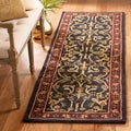 Safavieh Hand-made Heritage Black/ Red Wool Rug (2'3 x 22')