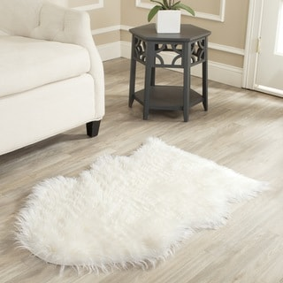 Safavieh Hand-made Faux Sheep Skin Ivory Rug (2' x 3')