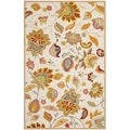 Safavieh Hand-hooked Indoor/ Outdoor Four Seasons Ivory/ Yellow Rug (8' x 10')