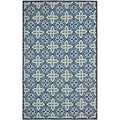 Safavieh Hand-hooked Indoor/ Outdoor Four Seasons Blue Rug (3'6 x 5'6)