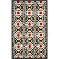 Safavieh Hand-hooked Indoor/ Outdoor Four Seasons Black/ Ivory Rug (8' x 10')