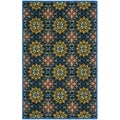 Safavieh Hand-hooked Indoor/ Outdoor Four Seasons Black/ Blue Rug (8' x 10')