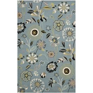 Safavieh Hand-hooked Indoor/ Outdoor Four Seasons Blue Area Rug (8' x 10')