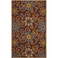 Safavieh Hand-hooked Indoor/ Outdoor Four Seasons Burgundy Rug (8' x 10')