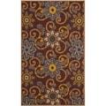 Safavieh Hand-hooked Indoor/ Outdoor Four Seasons Burgundy Rug (8' x 10')