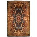 Safavieh Hand-made Empire Black/ Blue Wool Rug (8'3 x 11')