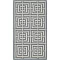 Safavieh Geometric Indoor/Outdoor Courtyard Navy/Beige Rug (2' x 3'7)