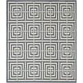 Safavieh Polypropylene Indoor/Ourdoor Courtyard Navy/Beige Rug (8' x 11')