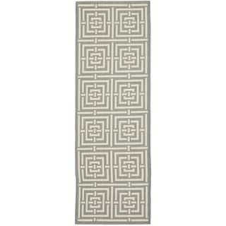 Safavieh Indoor/ Outdoor Courtyard Grey/ Cream Rug (2'3 x 20')
