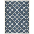 Safavieh Circle-Patterned Indoor/Outdoor Courtyard Navy/Beige Rug (9' x 12')