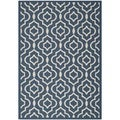 Safavieh Abstract Indoor/Outdoor Courtyard Navy/Beige Rug (5'3 x 7'7)