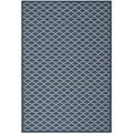 Polypropylene Safavieh Indoor/Outdoor Courtyard Navy/Beige Rug (5'3 x 7'7)