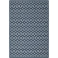 Safavieh Polypropylene Indoor/Outdoor Courtyard Navy/Beige Rug (6'7 x 9'6)