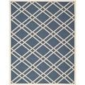 Safavieh Diamond-Patterned Indoor/Outdoor Courtyard Navy/Beige Rug (9' x 12')