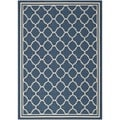 Safavieh Dhurrie Indoor/Outdoor Courtyard Navy/Beige Rug (6'7 x 9'6)