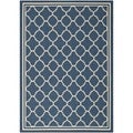 Safavieh Moroccan Indoor/Outdoor Courtyard Navy/Beige Rug (8' x 11')