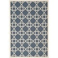 Safavieh Moroccan Indoor/Outdoor Courtyard Navy/Beige Rug (5'3 x 7'7)