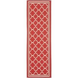 Safavieh Indoor/ Outdoor Courtyard Red/ Bone Rug (2'3 x 20')