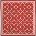 Safavieh Indoor/ Outdoor Courtyard Red/ Bone Rug (7'10 Square)