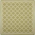 Safavieh Indoor/ Outdoor Courtyard Green/ Beige Rug (5'3 Square)