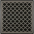 Safavieh Indoor/ Outdoor Courtyard Black/ Beige Rug (5'3 Square)
