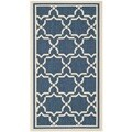 Safavieh Indoor/ Outdoor Courtyard Navy/ Beige Rug (2' x 3'7)