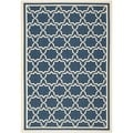 Safavieh Indoor/ Outdoor Courtyard Navy/ Beige Rug (6'7 x 9'6)