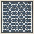 Safavieh Contemporary Indoor/ Outdoor Courtyard Navy/ Beige Rug (6'7 Square)