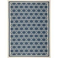 Safavieh Indoor/ Outdoor Courtyard Navy/ Beige Area Rug (8' x 11')